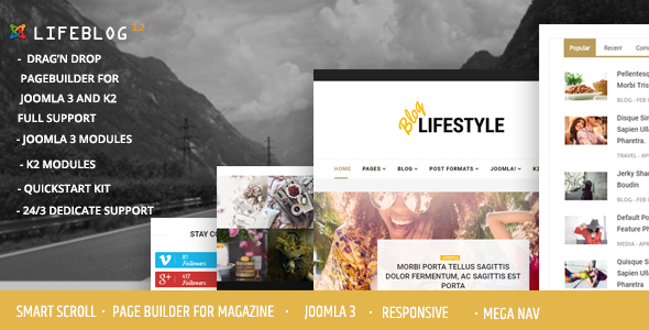 Image of Lifeblog - Joomla Lifestyle Blogging and Magazine