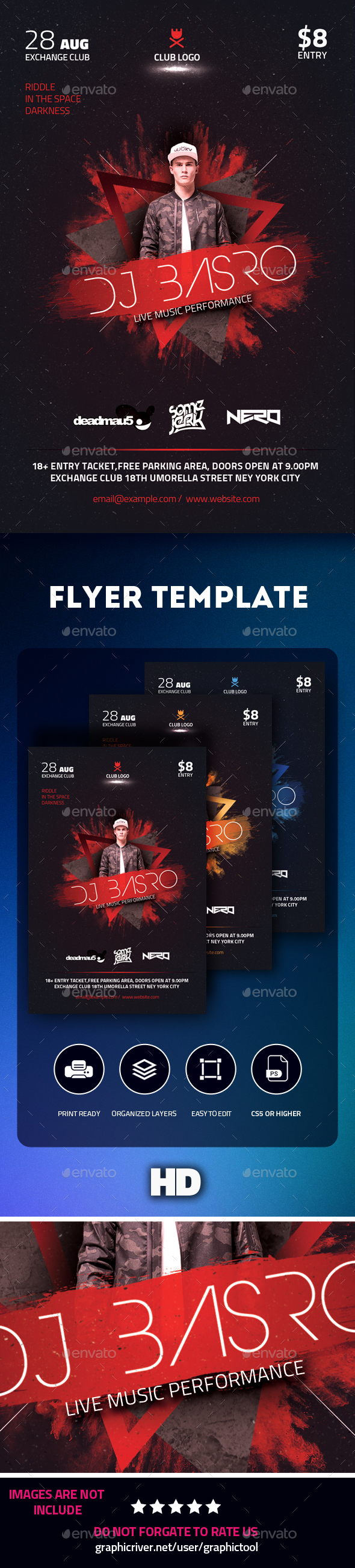 GraphicRiver DJ Flyer 21181667
