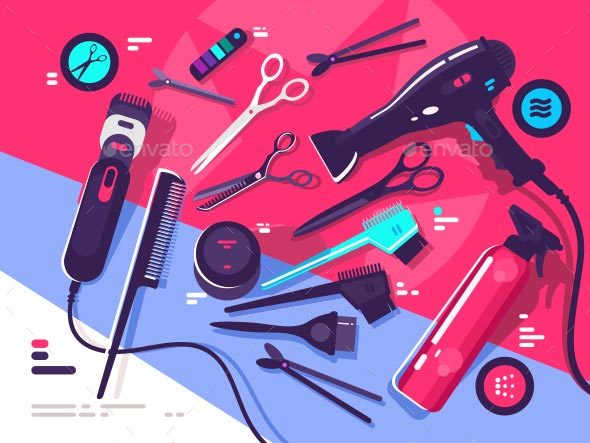 Hairdressing Tools - Man-made Objects Objects