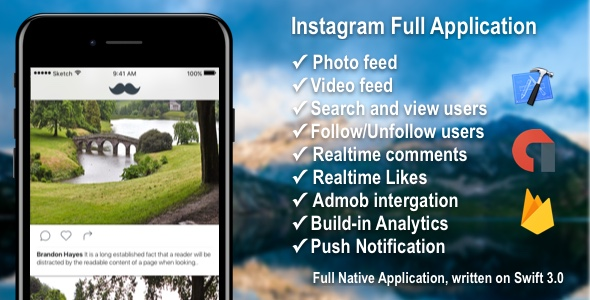 Photo/Video Social Application with Firebase + Admob + PushNotifications - CodeCanyon Item for Sale