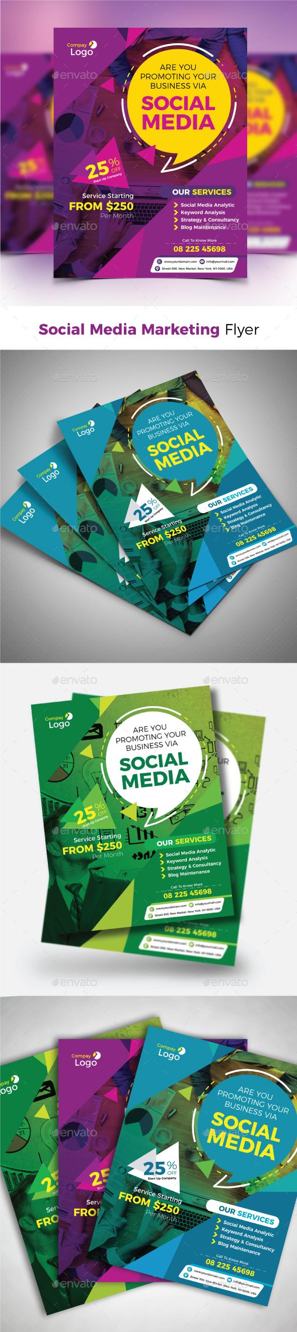 GraphicRiver Social Media Marketing Flyer 21182044