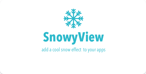 CodeCanyon Snowy View A cool UIView snow effect 21182048