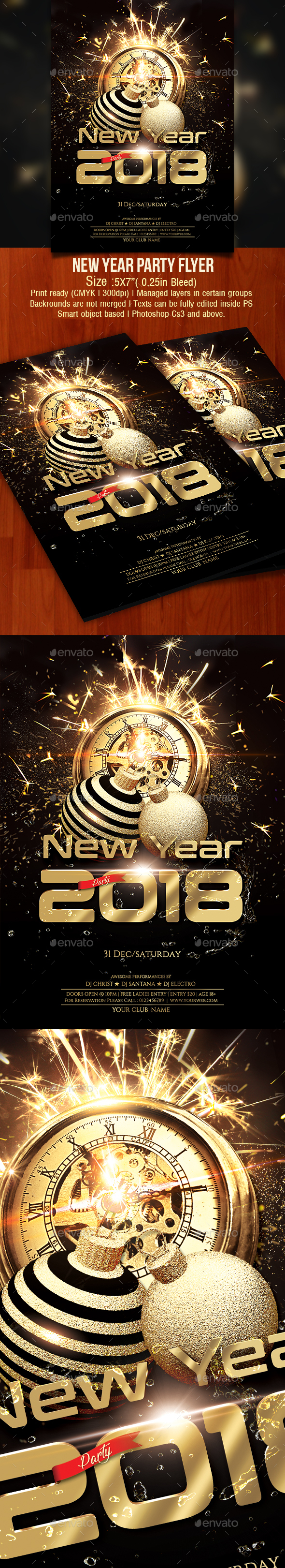 GraphicRiver New Year Party Flyer 21164647