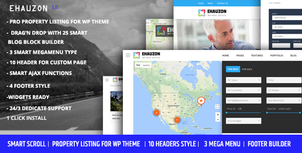 Ehauzon - Property Listing for WordPress Theme Free Download | Nulled