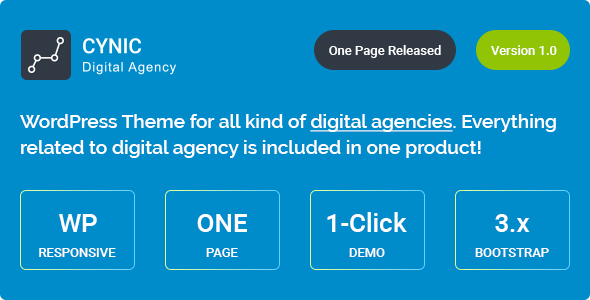 Cynic - Digital Agency WordPress Theme Free Download | Nulled