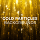 Gold Particles Backgrounds - VideoHive Item for Sale