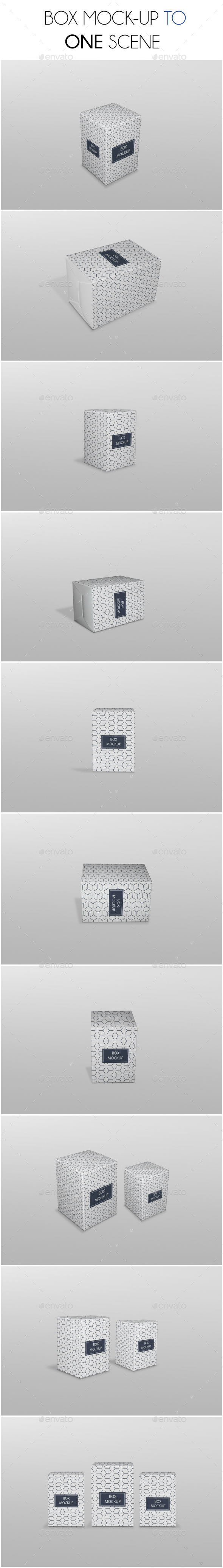Medicine Box Mockup - Product Mock-Ups Graphics