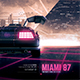 Synthwave Flyer v3 - Neon Miami Retrowave Poster Template - GraphicRiver Item for Sale