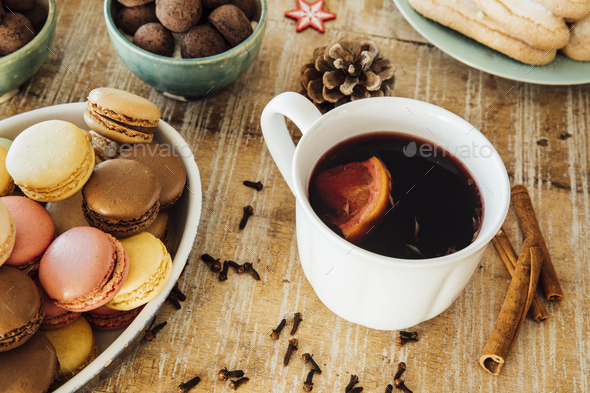 Mulled Wine and Sweets - Stock Photo - Images