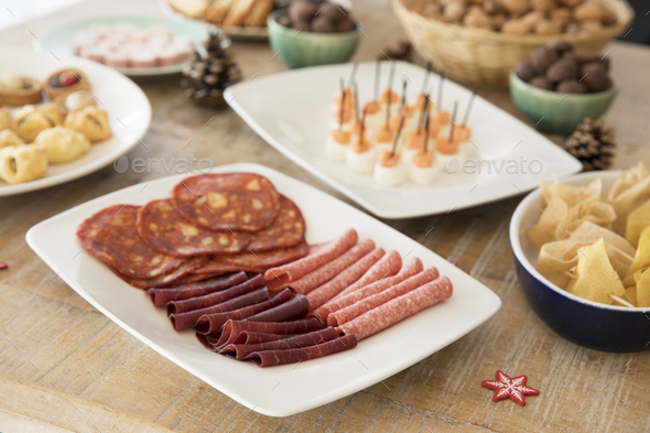 Close Up of Meat Platter - Stock Photo - Images