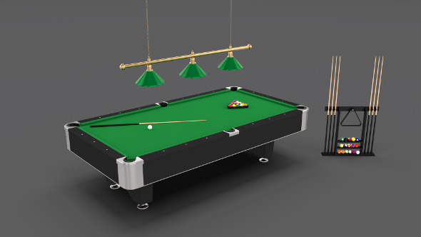 8 Ball Pool Table Setting - 3DOcean Item for Sale