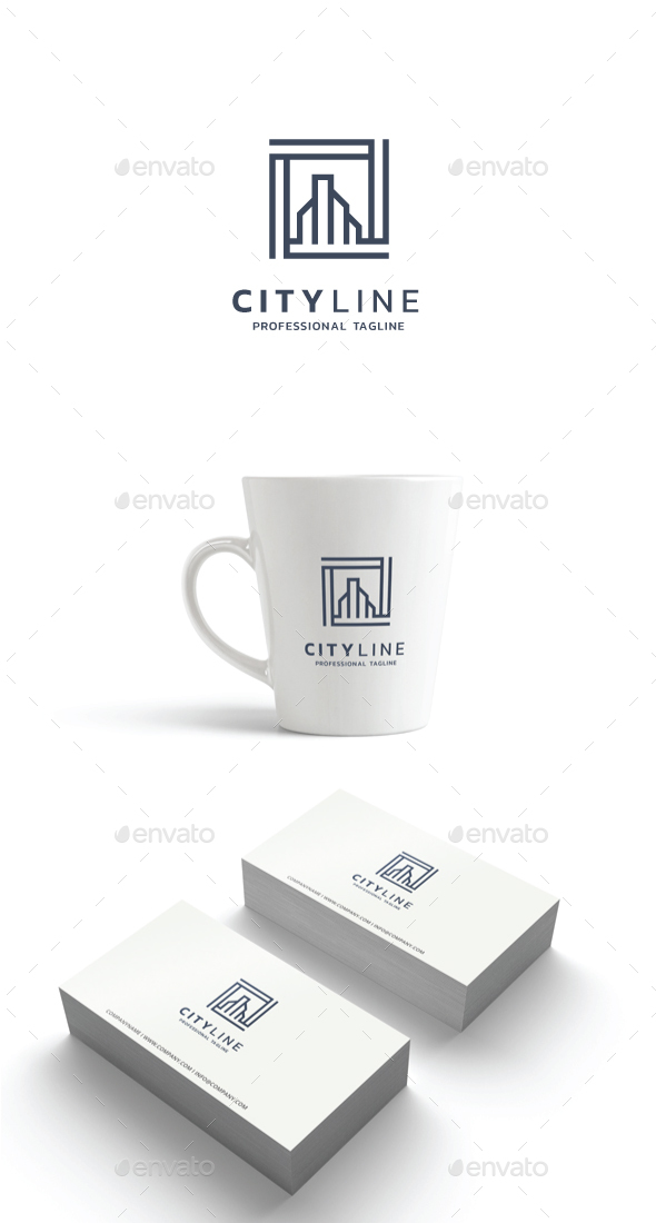 GraphicRiver City Line Logo 21182491