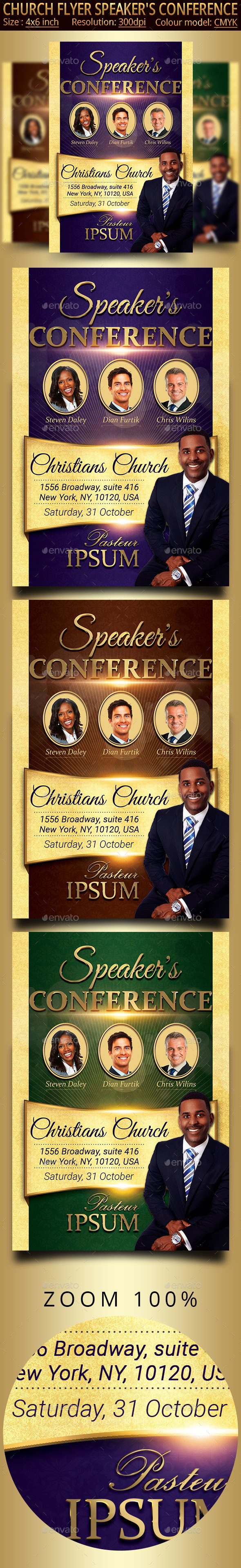 GraphicRiver Speaker's Conference Church Flyer 21182566