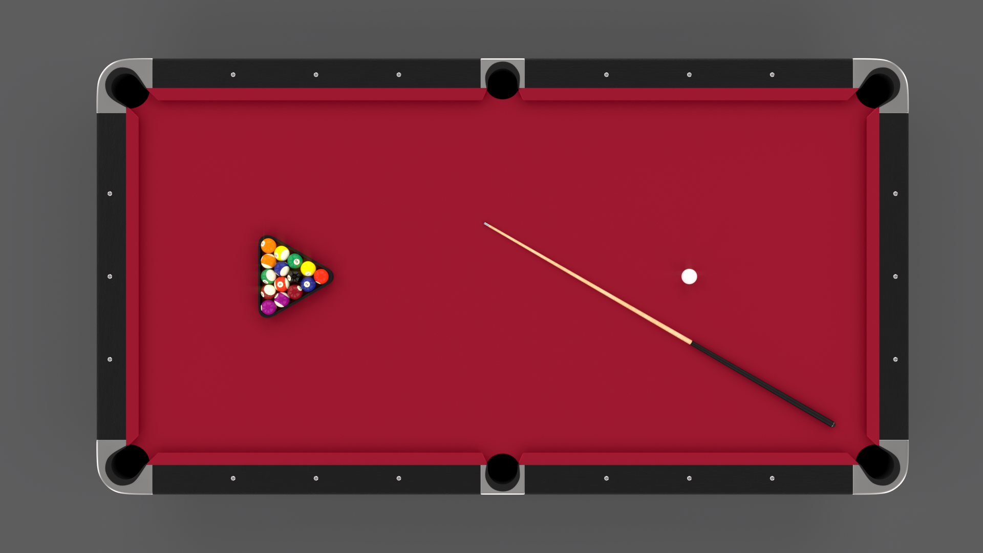 8 Ball Pool Table Red