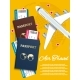 Air Travel Banner with World Globe Airline Tickets