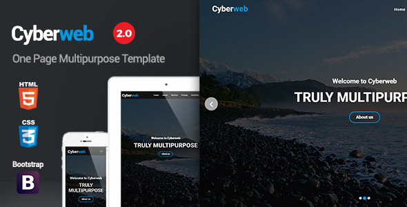 Cyberweb - One Page Multipurpose Template - Corporate Site Templates