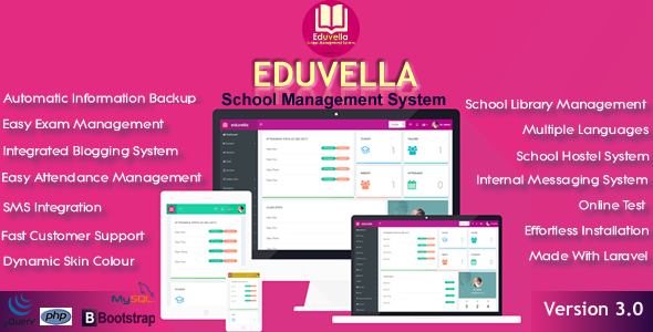 Eduvella School Management System - CodeCanyon Item for Sale