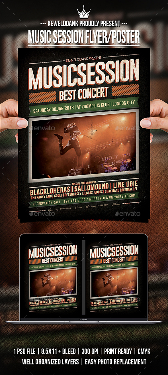 GraphicRiver Music Session Flyer Pposter 21182978