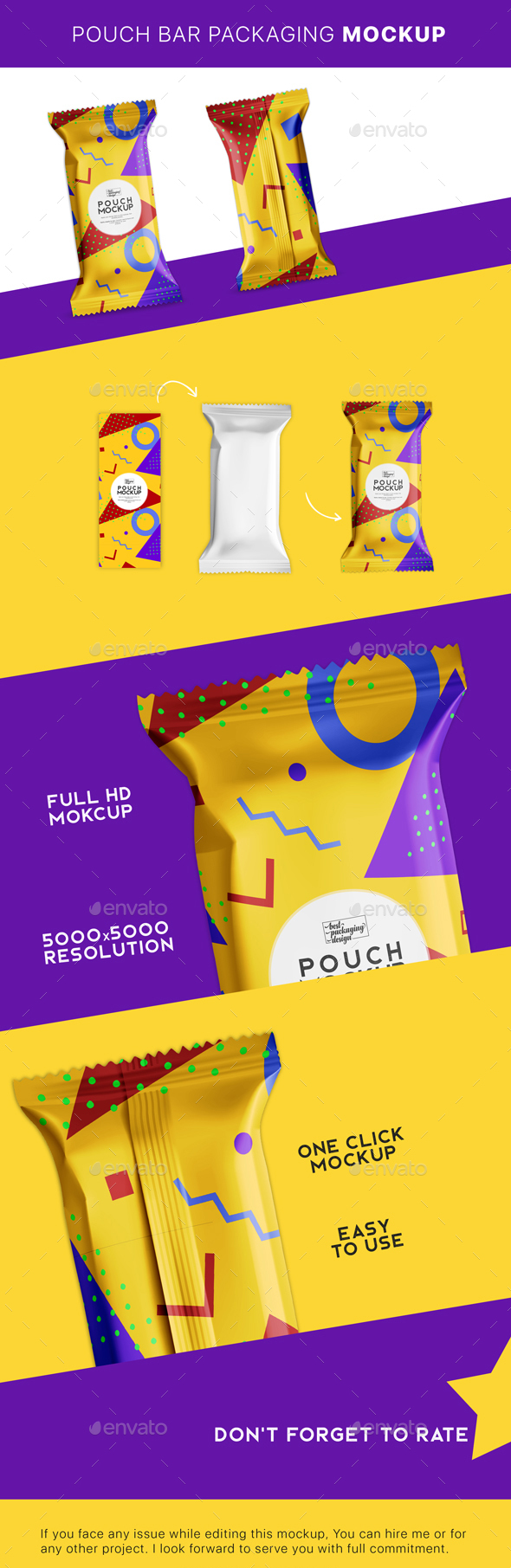 GraphicRiver Supplement Bar Packaging Mockup 21166843