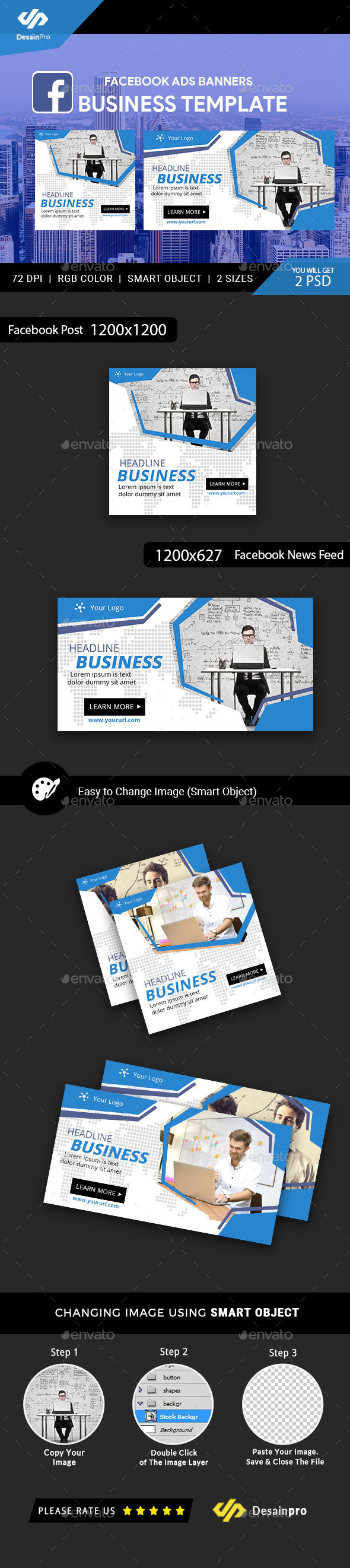 Facebook Ads Graphics Designs Templates From GraphicRiver - Facebook advertising template