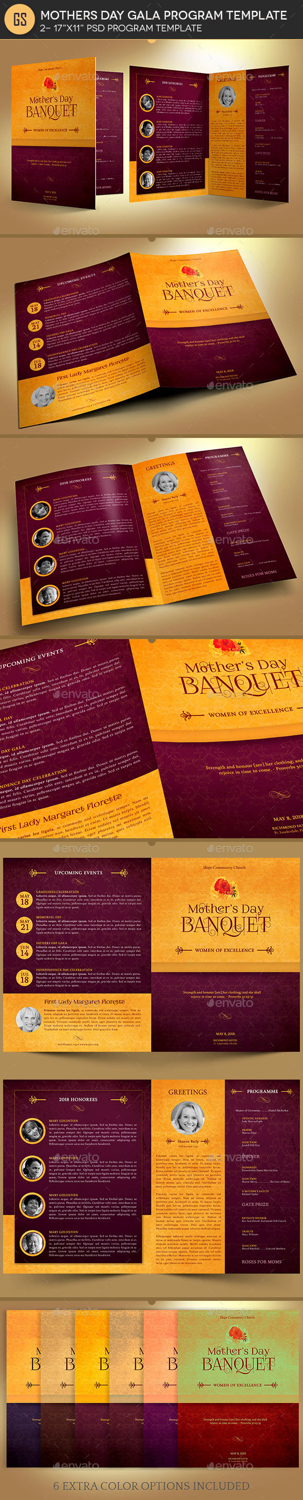 GraphicRiver Mothers Day Gala Program Template 21183146