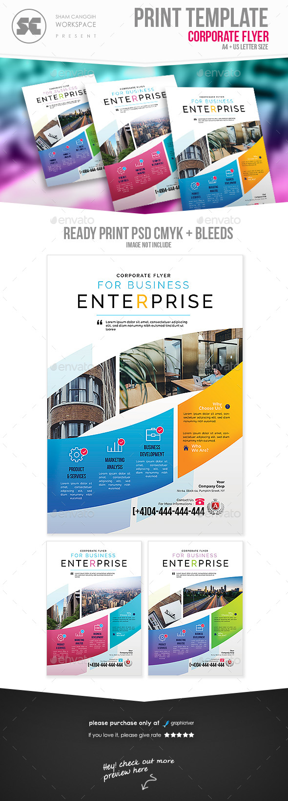 GraphicRiver Corporate Flyer 21183154