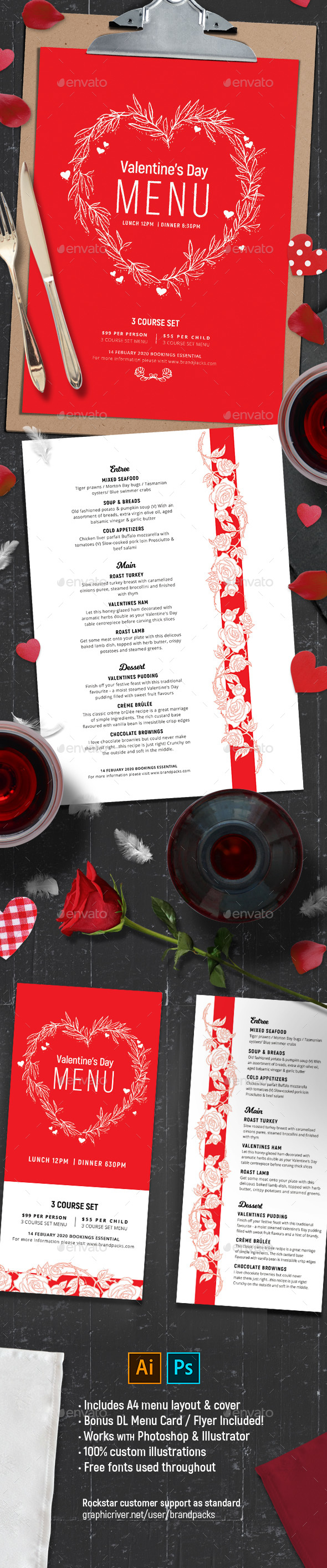 GraphicRiver Valentines Menu Vol.2 21183230
