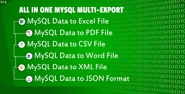 All in One MYSQL Multi-Export - CodeCanyon Item for Sale