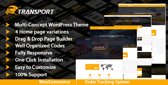 Transport & Logistics WordPress Theme