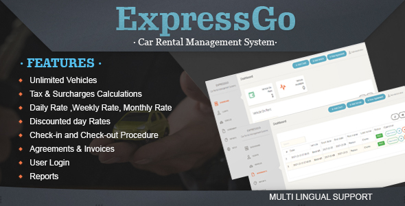CodeCanyon ExpressGo Car Rental Management System 21132716
