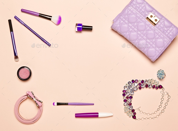 Fashion lady accessories set - Stock Photo - Images