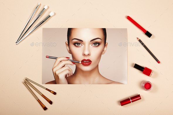 Fashion lady accessories collage - Stock Photo - Images