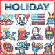 Holiday Icons - GraphicRiver Item for Sale
