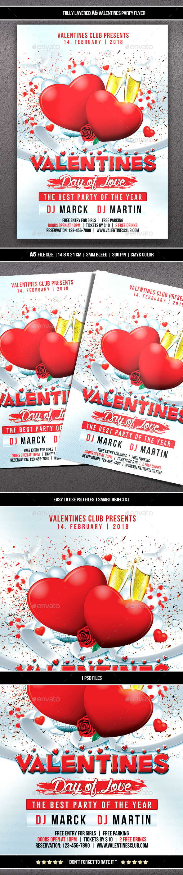 GraphicRiver Valentines Party Flyer 21183598