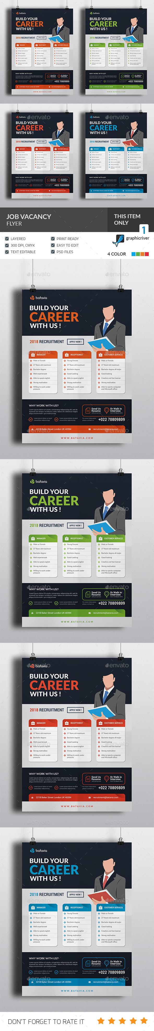 GraphicRiver Job Vacancy Flyer 21183633