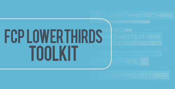VideoHive FCP Lower Thirds Toolkit 21183712