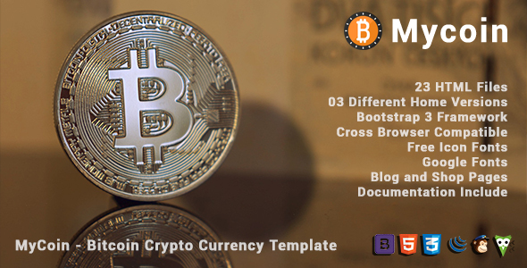 ThemeForest MyCoin Bitcoin Crypto Currency Template 21183745