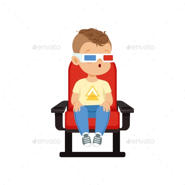 Boy in 3d Glasses - People Characters