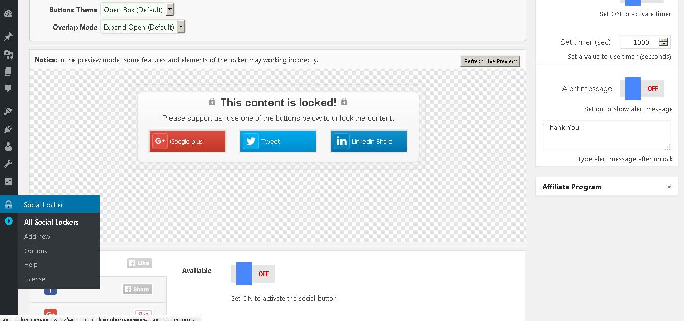 Social Locker for WordPress + bonus