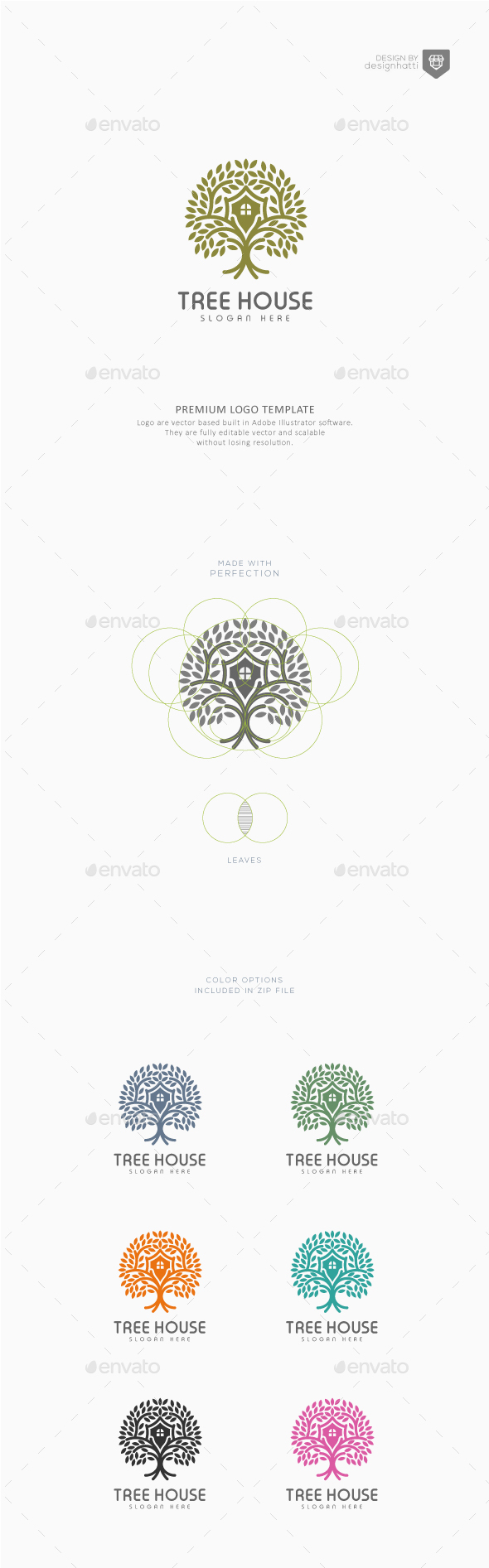 GraphicRiver Tree House Logo Template 21184033