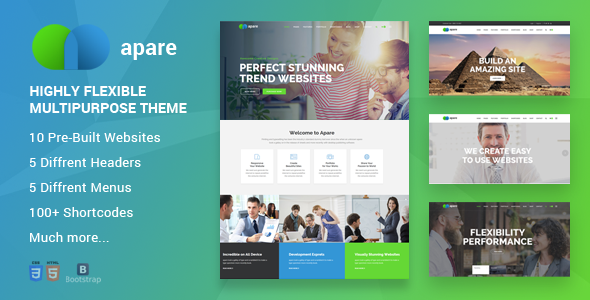 ThemeForest Apare Responsive Multi-Purpose Theme 21184046