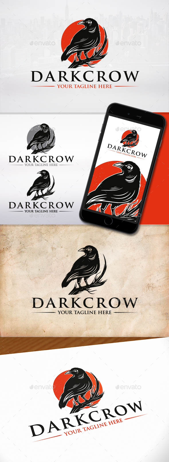 GraphicRiver Dark Crow Logo Template 21184124