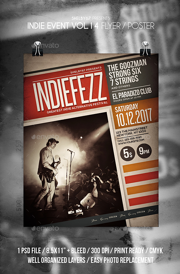 GraphicRiver Indie Band Event Flyer Vol 14 21184132