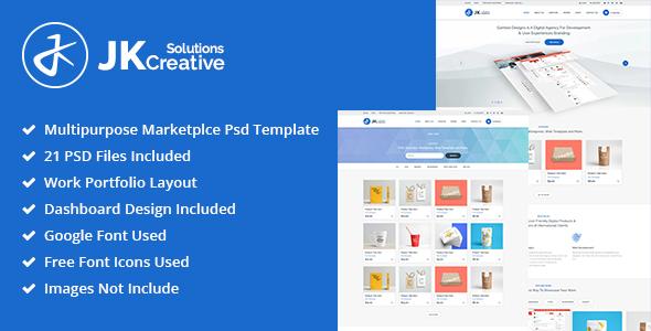 JK Creative Solutions PSD Template