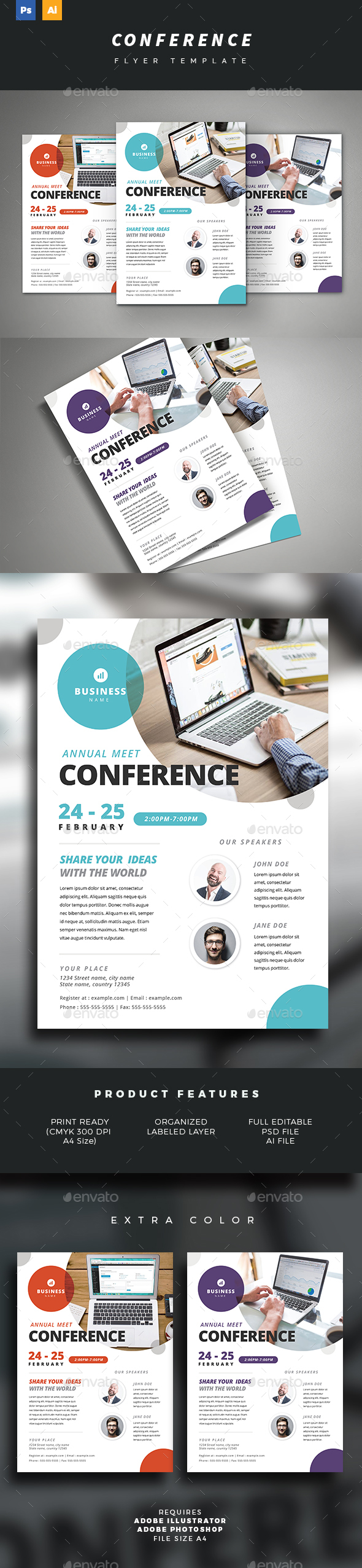 GraphicRiver Conference Flyer 21184178