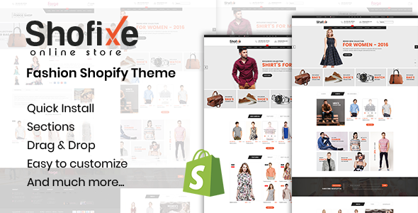 Shofixe - Fashion Shopify Theme Free Download | Nulled