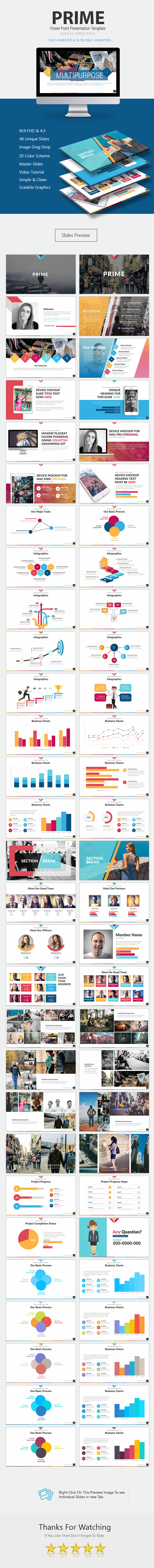 Prime Power Point Presentation - Business PowerPoint Templates