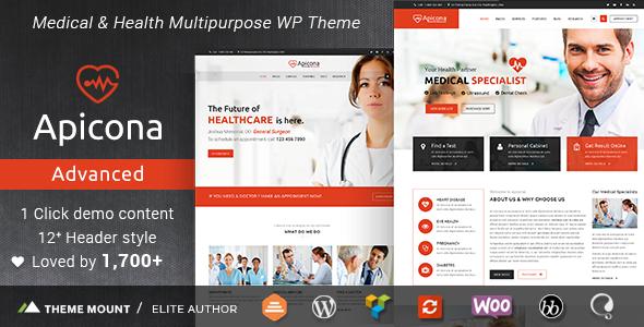 Apicona - Health & Medical WordPress Theme