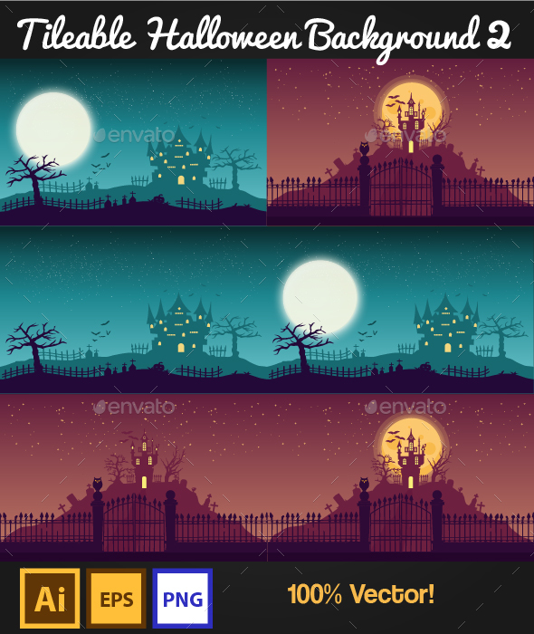 Tileable Halloween Game Background 2