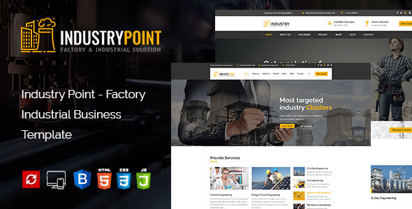 ThemeForest IndustryPoint Factory & Industrial HTML Template 21184450